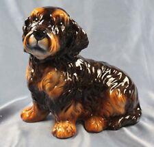 Rauhhaar Dackel Teckel hund Keramik  hundefigur lebensgroß porzellan figur g