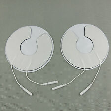 2pc Breast Electrode Pads Chest Adhesive Patches Breast Physiotherapy Jack 2.0mm