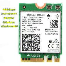 Dual Band Intel 9260NGW 9260ac 802.11ac 1.73Gbps Wifi BT 5.0 NGFF Wireless Card