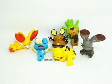 Set of 6 pcs New Pokemon Sleeping Pikachu Froakie Chespin Toy Action Figure