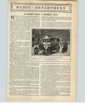 1922 Paper Ad 3 PG Article Is Radio Only a Passing Fad Radiophones Radio Symbols