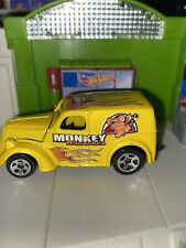 Hot Wheels Monkey Wrenches Ford Anglia Panel Truck Flames 🔥 Hood Opens Mint