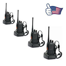 4 Piece Black Baofeng BF-888S UHF 400-470MHz 3.7V Two-way Ham Radio Transceiver