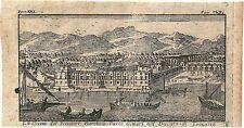 1768 CECINA Salmon Livorno Toscana acquaforte originale su rame