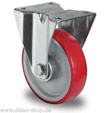 Transportrolle Bockrolle 200 mm 350 kg Polyurethanbereifung Platte Rolle