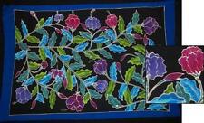 "Sarong/Pareo/Wrap - ""NIGHT FLORAL"" - handpainted batik from Bali - Hary Dary"