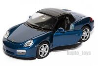 Porsche Boxster S Blue, Welly scale 1:34-39, model toy car gift