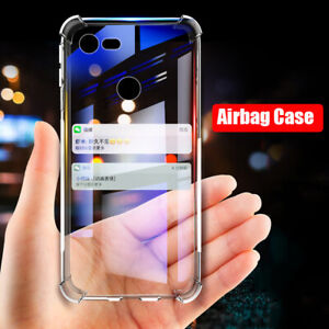For Google Pixel 3 / 3 XL Air Cushion Military Shockproof TPU Clear Case Cover