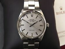 ROLEX AIR KING 5500 /1002 CAL 1520 AUTOMATIC NO DATE 34MM BAND 78350 JUST OYSTER