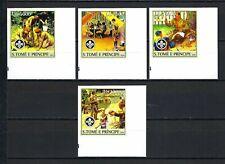 Sao Tome & Principe 2004   Boy Scouts/Scouting & Scouting Emblem  MNH Imperf Set
