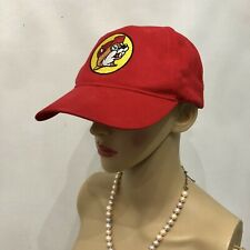 Buc-ee's Bucees Gas Station Red Beaver Cotton Hat Cap Adjustable Strap Youth NWT