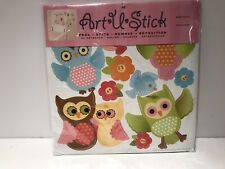 Owls Flowers & Birds Peel & Stick Decals Instant Wall Decor Adhesive Graphic New