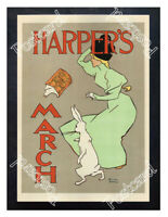 Historic Harper's March, 1894 Advertising Postcard