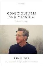 Conciencia y significado: ensayos seleccionados por Brian Loar (tapa Dura, 2017)