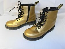 Dr Martens Gold Combat Boots Woman's 5US Really Good Condition, zipper side
