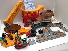 Fisher Price GeoTrax Lift N Load Quarry & Parts To Rope N Ride Corral Stable LOT