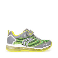 GEOX Scarpe J bambini ragazzi ANDROID J8244A sneakers con luci in tela Grey/Lime