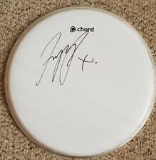 """Richard Jupp 'Elbow', hand signed in person 10"""" drum skin."""