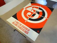 """SHEPARD FAIREY Obey Giant Sticker 4X3/"""" NO FUTURE from poster print 103"""