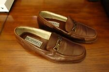 Caporicci Loafers Brown Leather Shoes Mens Sz 11 (44) - Made in Italy