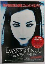 "Evanescence ""Fallen Tour - Fuji Rock Festival 2003"" Japan Concert Poster"