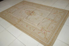 Chic Shabby Pastel Light Tone French Country Aubusson Area Rug #11-78-102