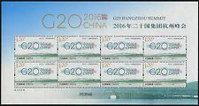 CHINA PRC 2016-25 g20 Hangzhou Summit soie silk conférence Klein Arc Neuf sans charnière