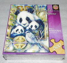 What Wonderful World Panda Bears Master Pieces Jigsaw Puzzle 500 Pieces Bamboo