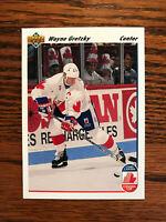 1991-92 Upper Deck #13 Wayne Gretzky Hockey Card Team Canada NHL Raw