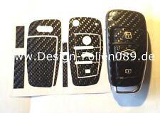 CARBON Glanz Folie Dekor Schlüssel Audi TT A1 8J A6 A3 8p A4 4F S3 S4 B7 Q7 RS