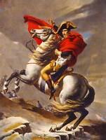 PAINTING PORTRAIT NAPOLEON BONAPARTE EMPEROR FRANCE ALPS HORSE POSTER CC3702
