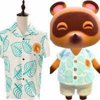 Animal Crossing Tom Nook Shirt Cosplay Costume Printed Summer Short Sleeve Top