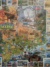"""Preowned White Mountain 1000 Piece Puzzle """"The Best Of Maine"""" New Thicker Pieces"""