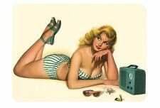 Vintage Style Pin Up Girl Stickers P04 Pinup Sticker Decal