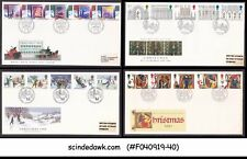 Great Britain - Set Of 4 Christmas Fdc From 1988-1991