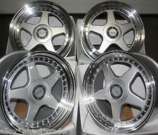 "ALLOY WHEELS X 4 18"" SILVER DR-F5 FOR BMW 1 3 SERIES E36 E46 E90 E91 E92 Z4 M12"
