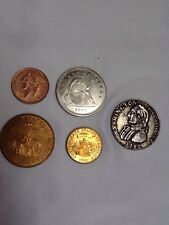 Lot Of 5 Old coins (copies) Repro Confederate And ?  (C011)