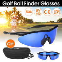 Golfer Golf Ball Finder Glasses Lens Less Sport finding Sunglasses + Mould Case