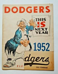 1952 Brooklyn Dodgers Yearbook
