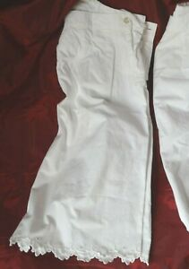 Antique cotton hand made ladies shorts or bloomers, French under wear, boudoir