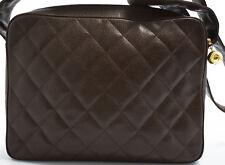 CHANEL Tasche Schultertasche Shoulder Bag 29x22cm Cavier Skin Messenger Umhänge