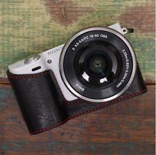 Cuerpo de cámara de cuero caso CIESTA [Negro/Rojo] para Sony NEX-5R/5T