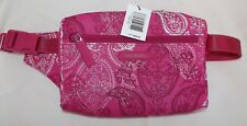 VERA BRADLEY Lighten Up Belt Bag - STAMPED PAISLEY Pink - Fanny Pack Style - NEW