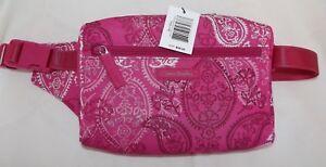 VERA BRADLEY Lighten Up Belt Bag - STAMPED PAISLEY Pink - Fanny Pack Style - NEW