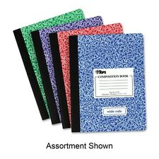 """""""Tops Composition Book W/hard Cover, Legal/wide, 9 3/4 X 7 1/2, White"""""""