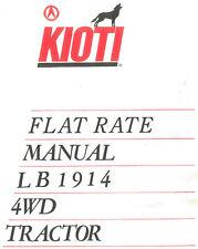 KIOTI LB1914 FLAT RATE TRACTOR MANUAL