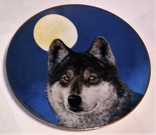 Wolf/ Wolves Plate, Princeton Gallery, Artic Majesty Collection, Nightwatch