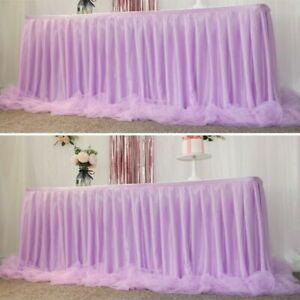 Tulle Tutu Table Skirt Cover Baby Shower Party Wedding Decor Height 80CM Modern