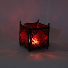 Orientalisches Glas Windlicht Teelichtglas Deko Rot Kerzenhalter Teelichtahlter