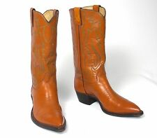 Classic 60's Justin Brown Cowboy Boots - Men's 7D Vintage  Pointy Toe